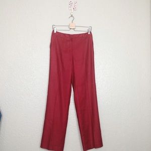 EUC Talbots Red Italian fabric linen blend pant